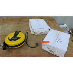 Qty 2 Steelman Retractable Cord Reel & Qty 1 Hubbel Commercial Cord Reel