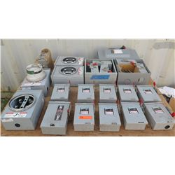 Qty 23 Siemens Switches and Meter Boxes
