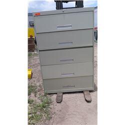 5-Drawer Lateral Metal Filing Cabinet