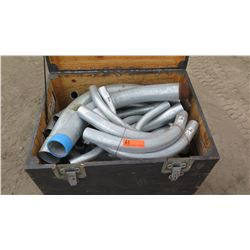 Trunk of Various Length Curved Metal Pipes