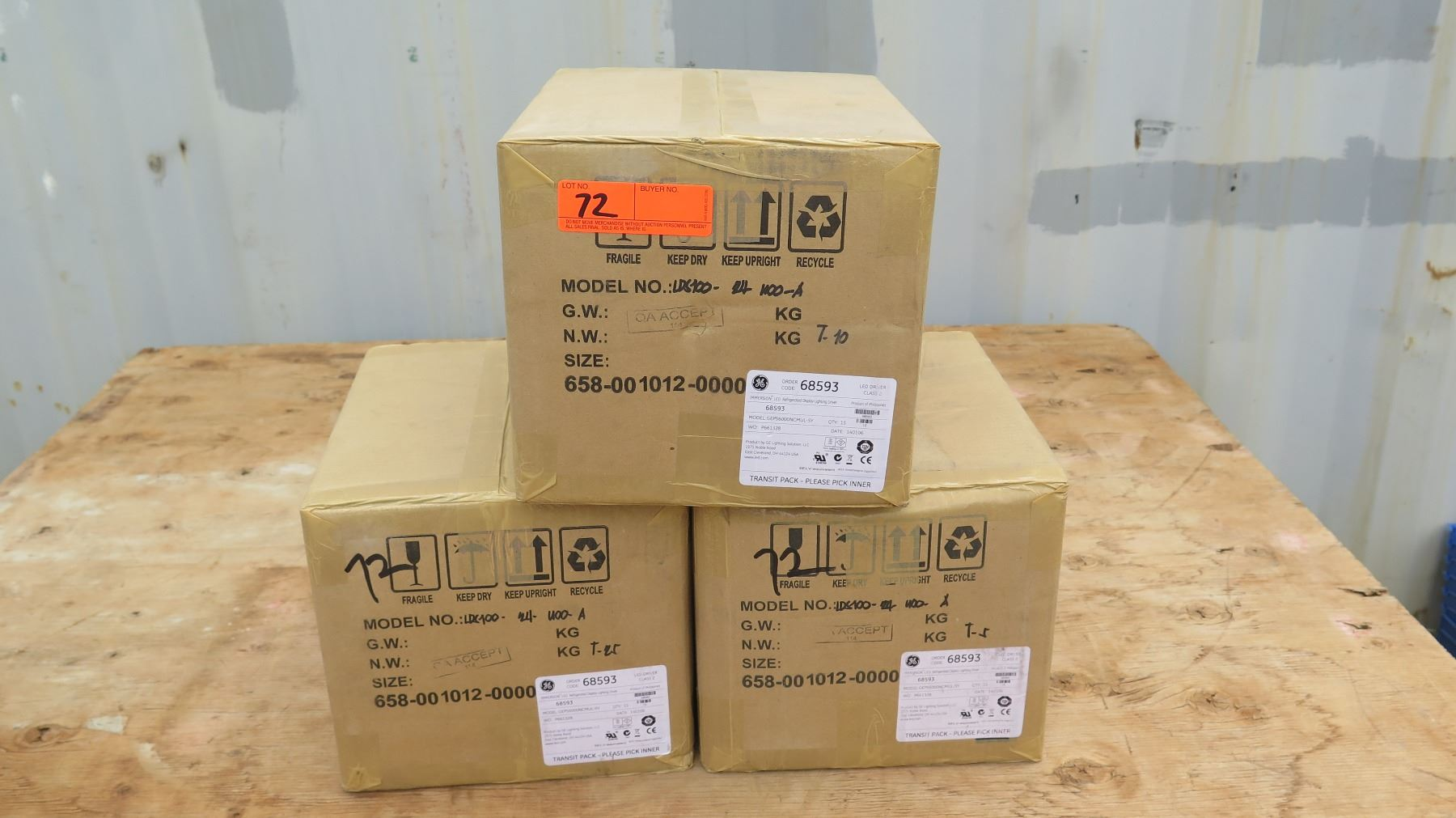 3 Boxes GE Immersion LED Refrigerated Display Lighting Driver