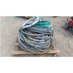 Entire Pallet of Misc. Coated Cables/Wires and Conduit
