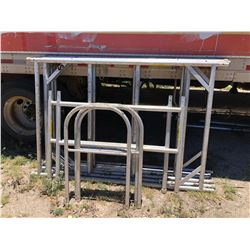 Large Lot Scaffolding Aluminum Frames Wheels Plank Etc