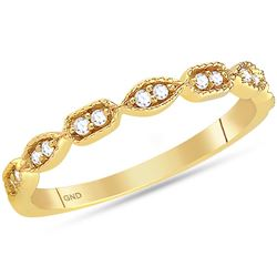 0.10 CTW Diamond Stackable Ring 14KT Yellow Gold - REF-22F4N