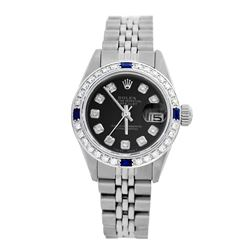 Rolex Pre-owned 26mm Womens Custom Black Stainless Steel - REF-470H3N
