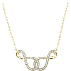 0.15 CTW Diamond Infinity Pendant 10KT Yellow Gold - REF-25Y4X