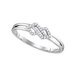 0.08 CTW Diamond Cluster Ring 10KT White Gold - REF-11M2H