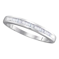 0.25 CTW Diamond Wedding Anniversary Ring 10KT White Gold - REF-13F4N