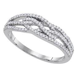 0.33 CTW Diamond Woven Ring 10KT White Gold - REF-25F4N