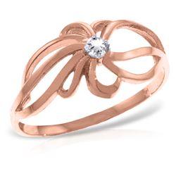 Genuine 0.05 ctw Diamond Anniversary Ring Jewelry 14KT Rose Gold - REF-35H4X