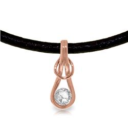 Genuine 0.50 ctw Diamond Anniversary Necklace Jewelry 14KT Rose Gold - REF-176A2K