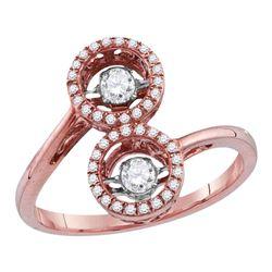 0.45 CTW Diamond Bypass Cluster Ring 10KT Rose Gold - REF-59H9M