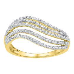 0.50 CTW Diamond Ring 10KT Yellow Gold - REF-40N4F