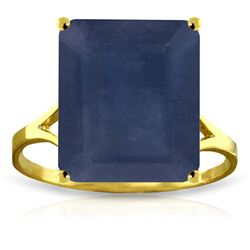 Genuine 7 ctw Sapphire Ring Jewelry 14KT Yellow Gold - REF-79Y8F
