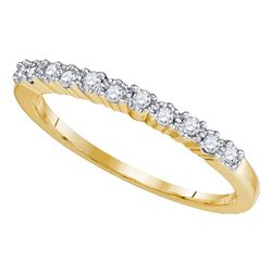 0.16 CTW Diamond Single Row Ring 10KT Yellow Gold - REF-18K2W
