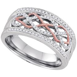 0.25 CTW Diamond Filigree Ring 10KT Two-tone Gold - REF-37M5H
