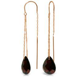 Genuine 6 ctw Garnet Earrings Jewelry 14KT Rose Gold - REF-21H9X
