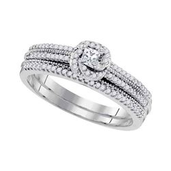 0.33 CTW Princess Diamond Bridal Engagement Ring 10KT White Gold - REF-40F4N