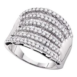 1.6 CTW Diamond Fashion Ring 14KT White Gold - REF-112K5W