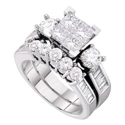 2 CTW Princess Diamond Bridal Engagement Ring 14KT White Gold - REF-269K9W