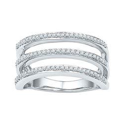 0.25 CTW Diamond Ring 10KT White Gold - REF-34H4M