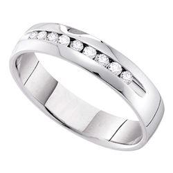 0.25 CTW Diamond Bridal Wedding Anniversary Ring 14k White Gold - REF-52X4Y