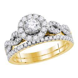 0.99 CTW Diamond EGL Bridal Wedding Engagement Ring 14KT Yellow Gold - REF-142H4M