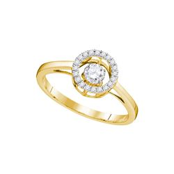 0.18 CTW Diamond Solitaire Bridal Wedding Engagement Ring 10KT Yellow Gold - REF-26F3N