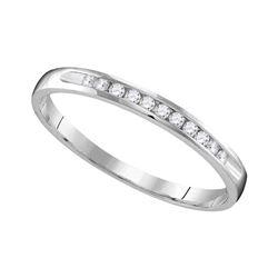 0.11 CTW Diamond Wedding Anniversary Ring 10KT White Gold - REF-14N9F