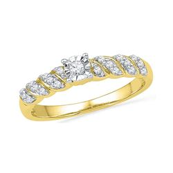 0.20 CTW Diamond Solitaire Bridal Ring 10KT Yellow Gold - REF-20M9H