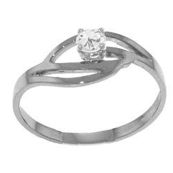Genuine 0.15 ctw Diamond Anniversary Ring Jewelry 14KT White Gold - REF-42M2T