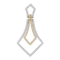 0.40 CTW Diamond 2-tone Pendant 14KT Two-tone Gold - REF-32K9W
