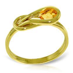 Genuine 0.65 ctw Citrine Ring Jewelry 14KT Yellow Gold - REF-47H2X
