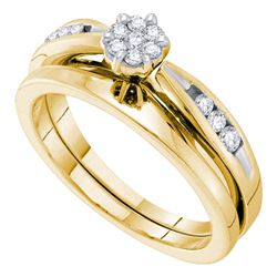 0.25 CTW Diamond Bridal Wedding Engagement Ring 14k Yellow Gold - REF-52W4K