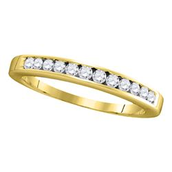 0.25 CTW Diamond Single Row Wedding Ring 14KT Yellow Gold - REF-30W2K