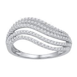 0.50 CTW Diamond Ring 10KT White Gold - REF-40H4M