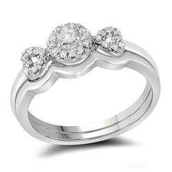 0.25 CTW Diamond Bridal Wedding Engagement Ring 10KT White Gold - REF-37F5N