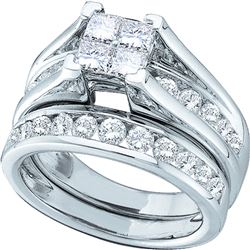 4 CTW Princess Diamond Bridal Engagement Ring 14KT White Gold - REF-524F9N