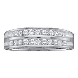 0.25 CTW Diamond 2-Row Fashion Ring 10KT White Gold - REF-22M4H
