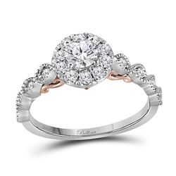 0.76 CTW Diamond Solitaire Bellina Bridal Engagement Ring 14KT Two-tone Gold - REF-104Y9X