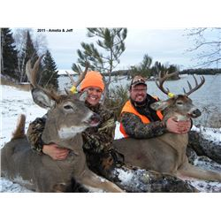 Seven Day White-Tailed Deer Rifle Hunt in Northwestern Ontario for 2 Hunters