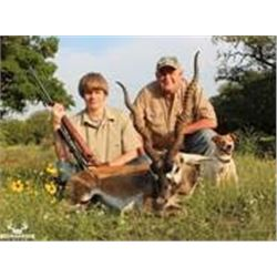 Two day parent/child hunt at Record Buck Ranch, with choice of 1 species.