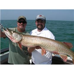 7 hour Musky fishing charter on Lake St. Claire for 4 people