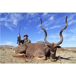 7 day S. African hunt for 1 hunter/1 non-hunter, w/ 20% discount on animals and $1000 Tax. cert.
