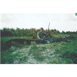 "3 day alligator hunt for 1 hunter and 1 observer, including 1 alligator over 10""."