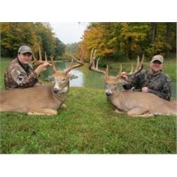 3 day Ohio Whitetail Deer hunt for two hunters with $2000 Credit on trophy fees for each deer.