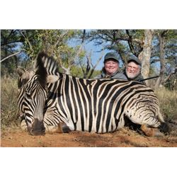 5 day South African 2x1 hunt for two hunters and two observers.  $1500 credit on trophy fees.