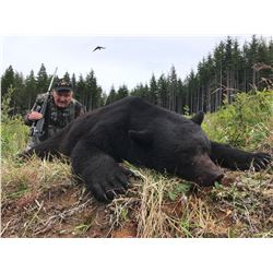 TROPHY WEST: 5-Day Black Bear Hunt for One Hunter in British Columbia - Includes Trophy Fee