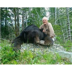 VANCOUVER ISLAND: 5-Day Coastal Black Bear Hunt for One Hunter in Vancouver Island, Canada