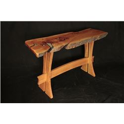 ANDY SANCHEZ: Juniper Wood Sofa Table and End Table with Inlays